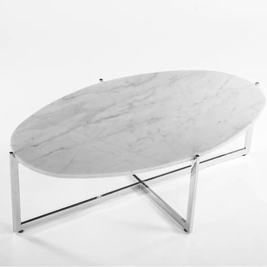 Control Brand FHT09WHT Lucerne Coffee Table in White / Chrome