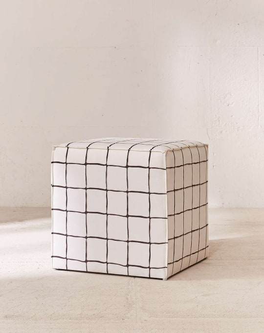 Wonky Grid Ottoman at Urban Outfitters