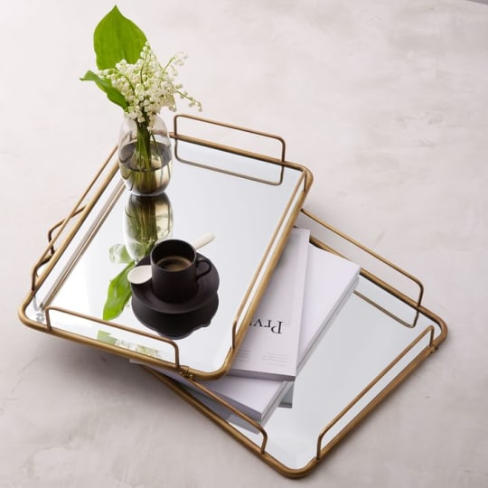 Gilded Cafe Mirror Tray