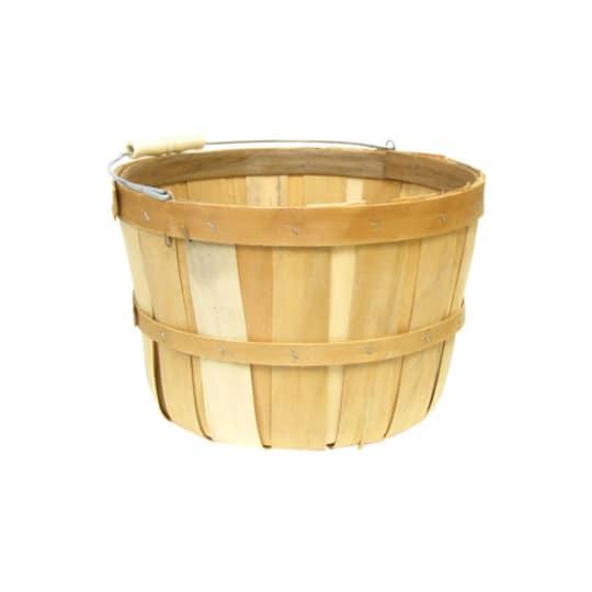 "1-Peck 7 1/2"" Tall Natural Bushel Basket"