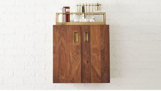 Wall-Mounted Bar Cabinet at CB2