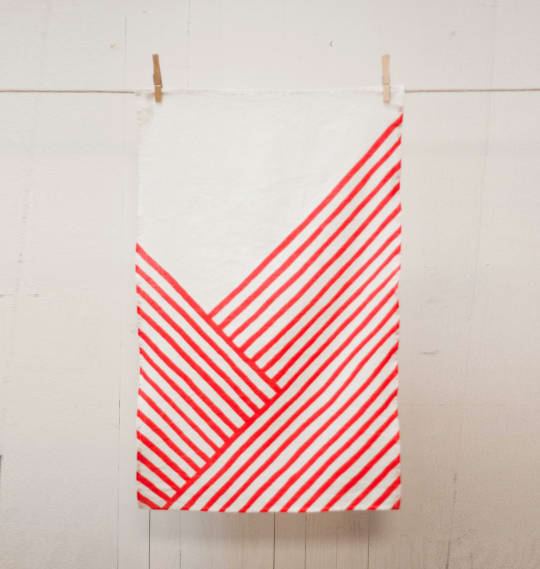 Red Knife's Edge Tea Towel from Ktaadn