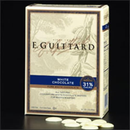 31% Cacao White Chocolate Wafers from E. Guittard