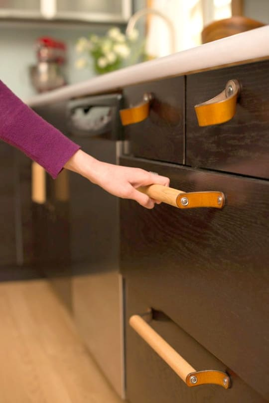 Leather Cabinet Handle and Pulls