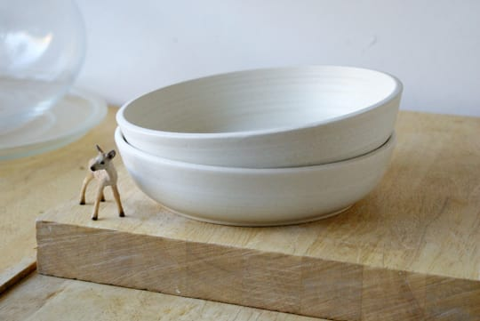 Four Small Salad Bowls by Little Wren Pottery