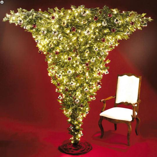 Kurt Adler Upside Down Christmas Tree