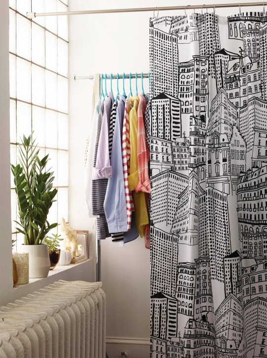 City Sketch Shower Curtain