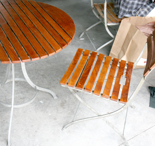 Courtyard Cafe Teak Table & Chairs