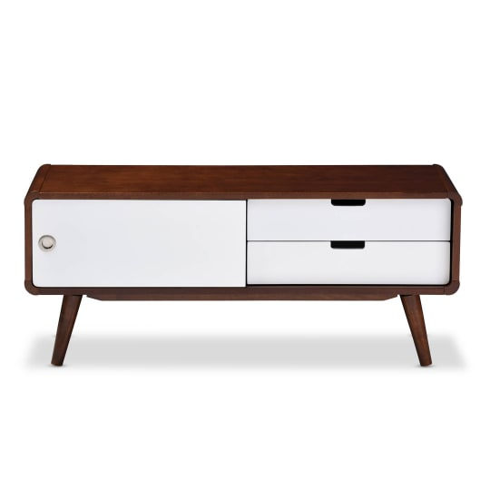 Baxton Studio Armani TV Cabinet with Sliding Door and Drawers
