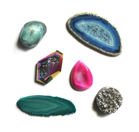 Gemstone Magnet Set from Brooklyn Thread