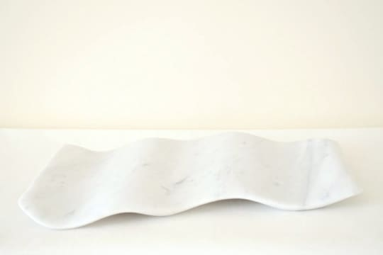 Wavy White Marble Serving Tray from Sevenstone