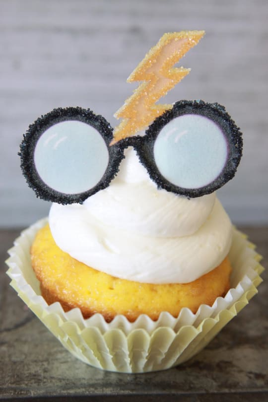 Edible Harry Potter Glasses & Lightning Cupcake Toppers