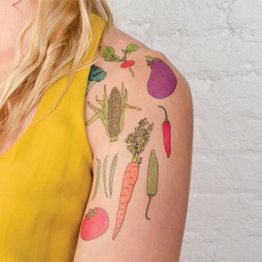 Vegetable Temporary Tattoos from Tattly