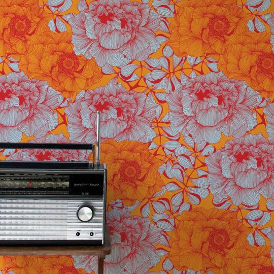 Rose Flower Wallpaper by Camilla Meijer