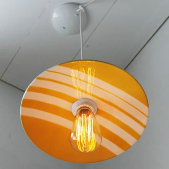 Sunny Mustard Plate Pendant Lamp Shade from GusNBoots