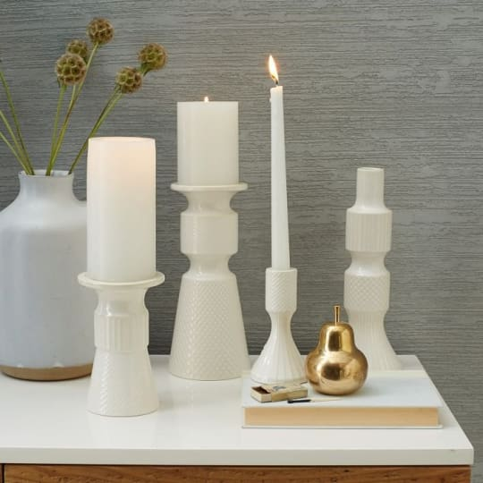 Textured Candle Holders from west elm