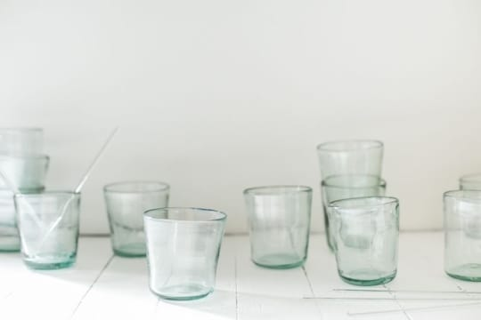 Hand Blown Glass Cups from Non-Perishable Goods