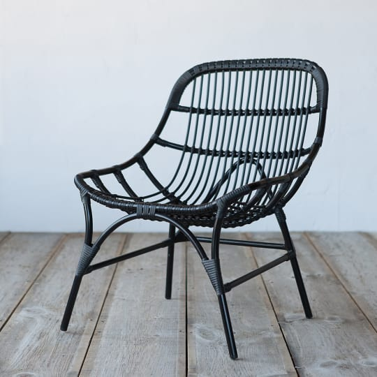 Open Weave All Weather Wicker Side Chair