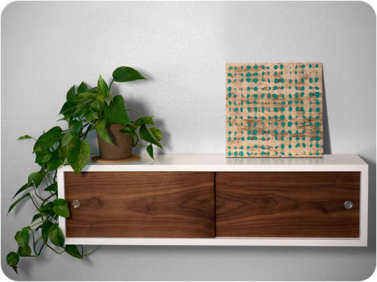 Grace Modern Floating Walnut Shelf at Etsy