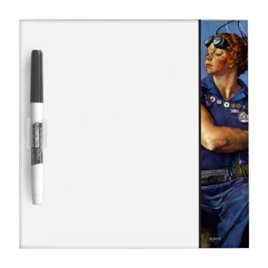 """""""Rosie the Riveter"""" Dry-Erase Whiteboard from Zazzle"""