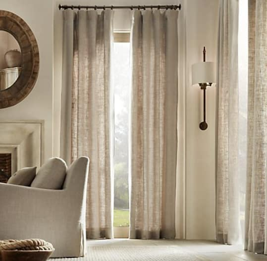 Washed Belgian Linen Curtains