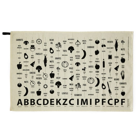Food Guide Towel from Uncommon Goods