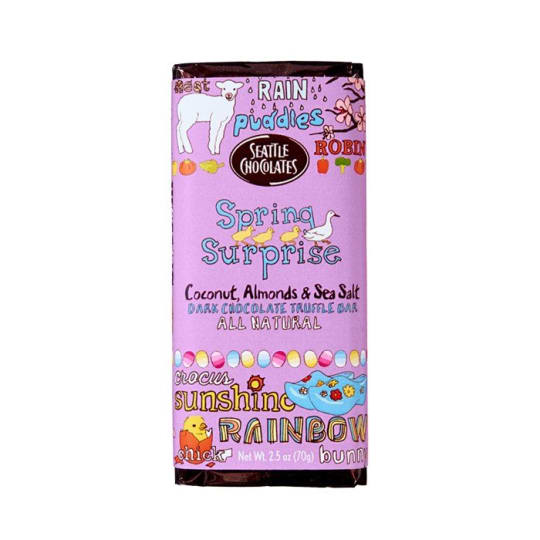 Spring Surprise Dark Chocolate Truffle Bar from Seattle Chocolates