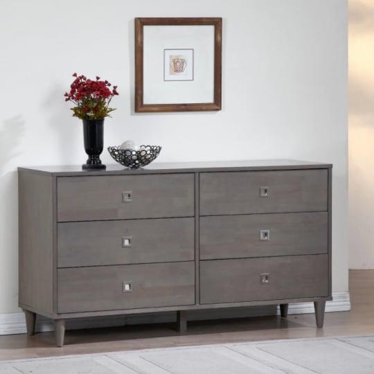 Marley Light Charcoal Grey 6-Drawer Dresser