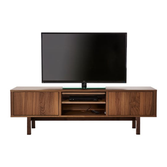 Stockholm TV Unit in Walnut Veneer