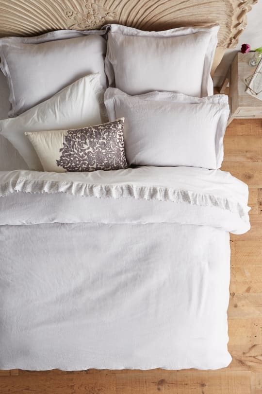 Anthropologie Soft-Washed Linen Duvet Cover