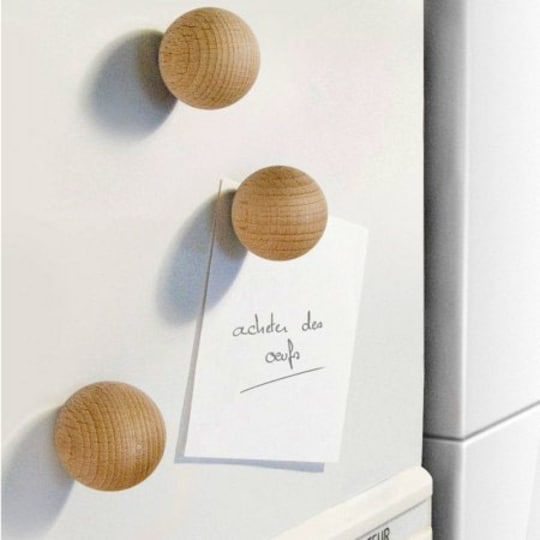 Wooden Ball Magnet by Philippe Ferreux