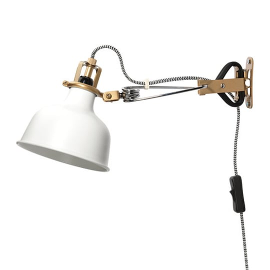 Ranarp Wall-Clamp Spotlight, Off-White