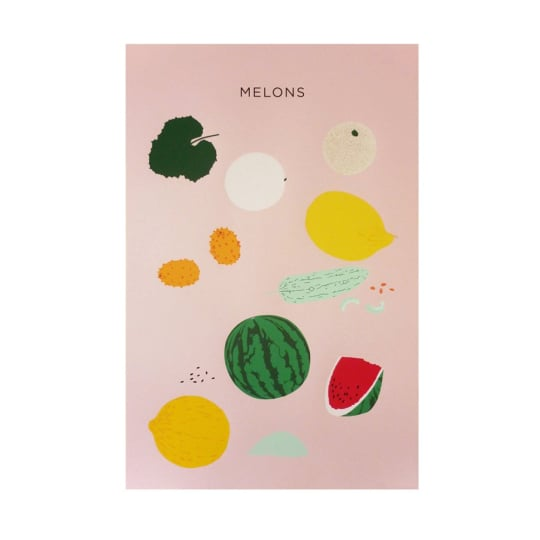 Large Melons Print by Claire Nereim