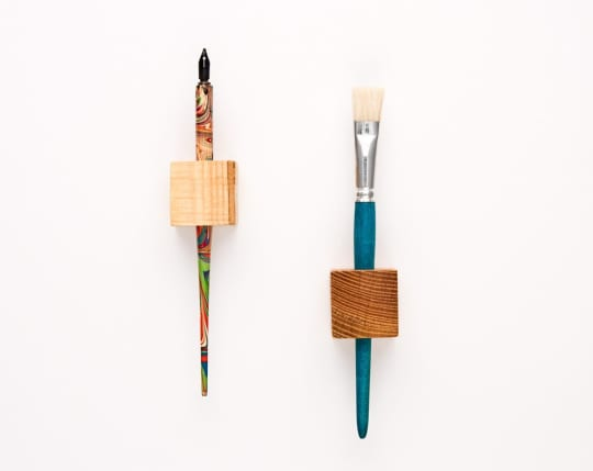 Magnetic Pen Holder Wooden Cubes from Less and More
