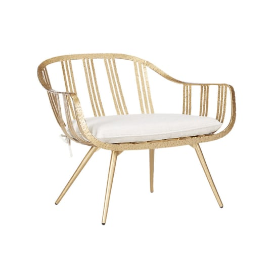 Gala Gold Lounge Chair at CB2