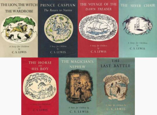 Chronicles of Narnia 1st Edition Reissue: Pauline Baynes Illustrations (7 books)