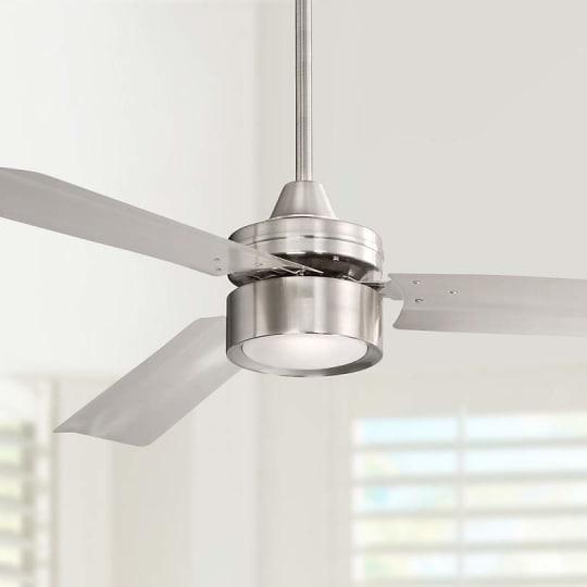 "52"" Casa Arcus Brushed Nickel LED Ceiling Fan"