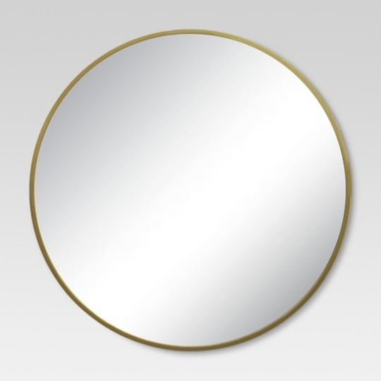 Project 62 Round Decorative Wall Mirror Brass at Target