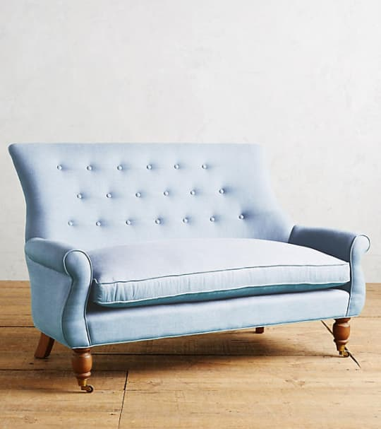 Linen Astrid Settee at Anthropologie