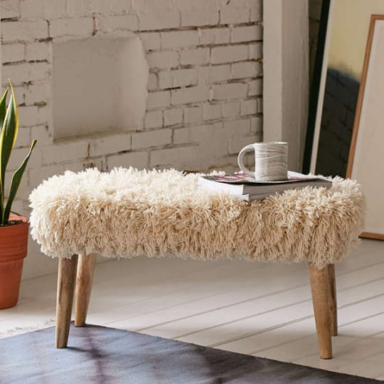 Shaggy Ottoman at Urban Outfitters