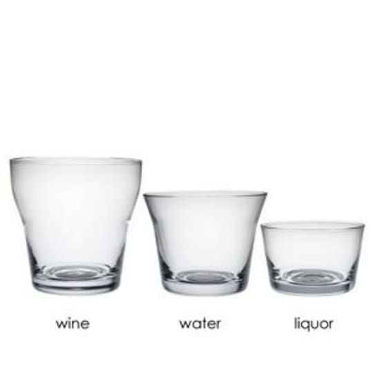 Alessi Glass Measuring Cups by Harri Koskinen