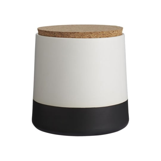 Dip Black and White Large Canister from CB2