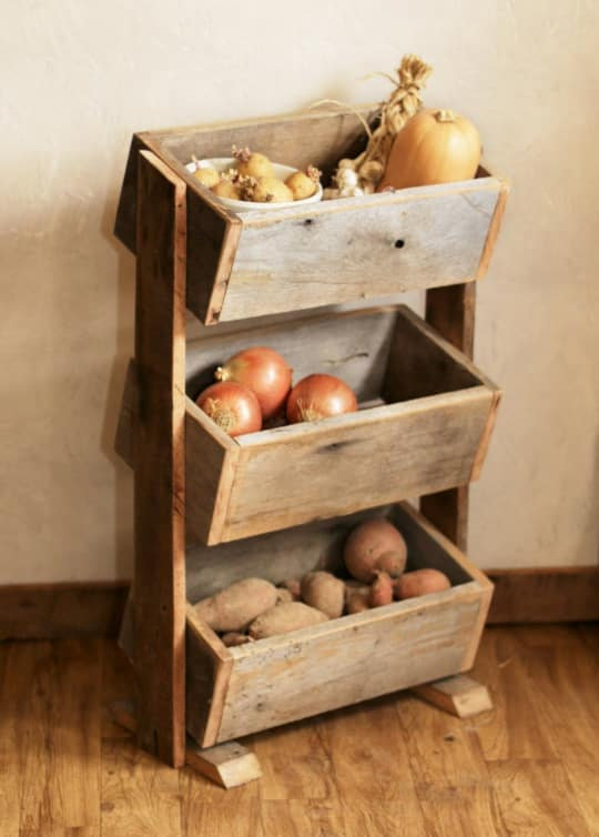 Barn Wood Potato U0026 Vegetable Bin From Grindstone Design