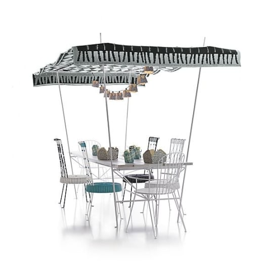 Party Dining Table with Canopy by Paola Navone