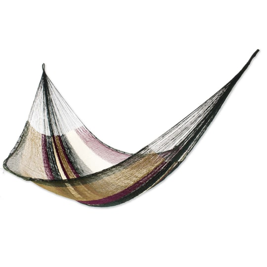 Mother Earth Striped Rope Hammock