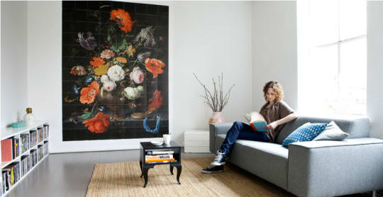 """""""Flowers in a Glass Vase"""" ixxi Mural"""