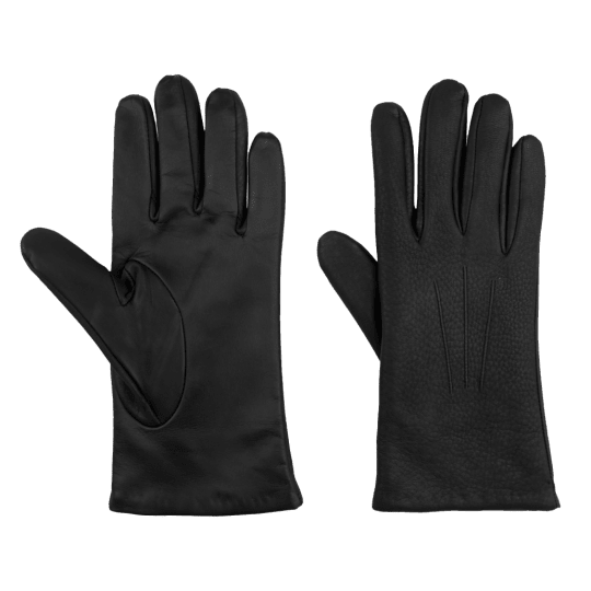 Kent Wang Deerskin Black Touchscreen Gloves