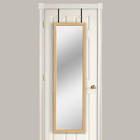 Mirrotek Over The Door Mirror, Oak at Amazon