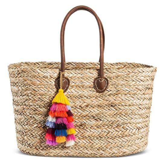 Women's Straw Tote Handbag - Merona