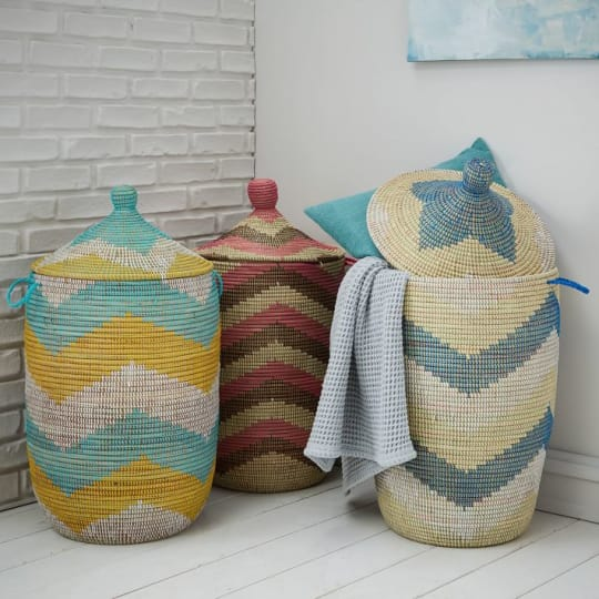 Graphic Printed Large Baskets